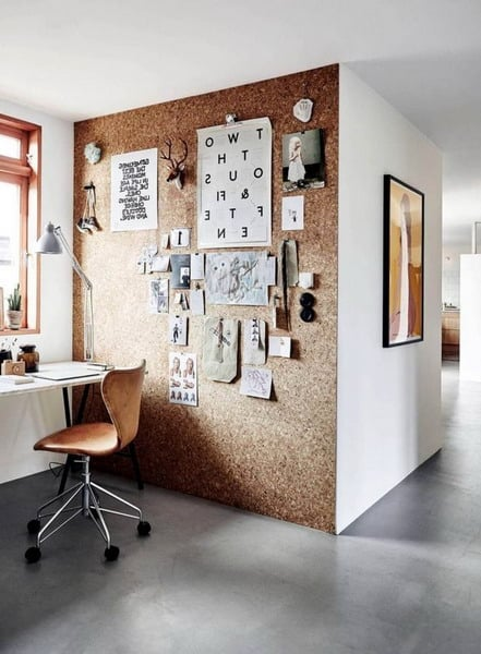 cork office interior decor