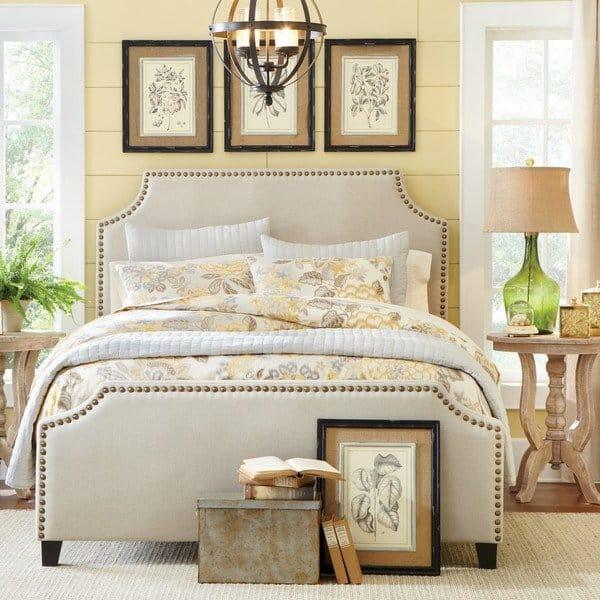 upholstered headboard bedroom trends