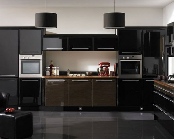 black kitchen cabinets Interior Decor Trends 2019