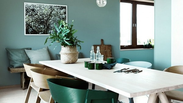 Green Colors in Interior Decoration Trends 2019