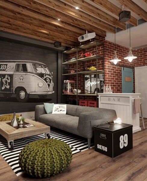 Interior Decoration Details In The Industrial Style Trends