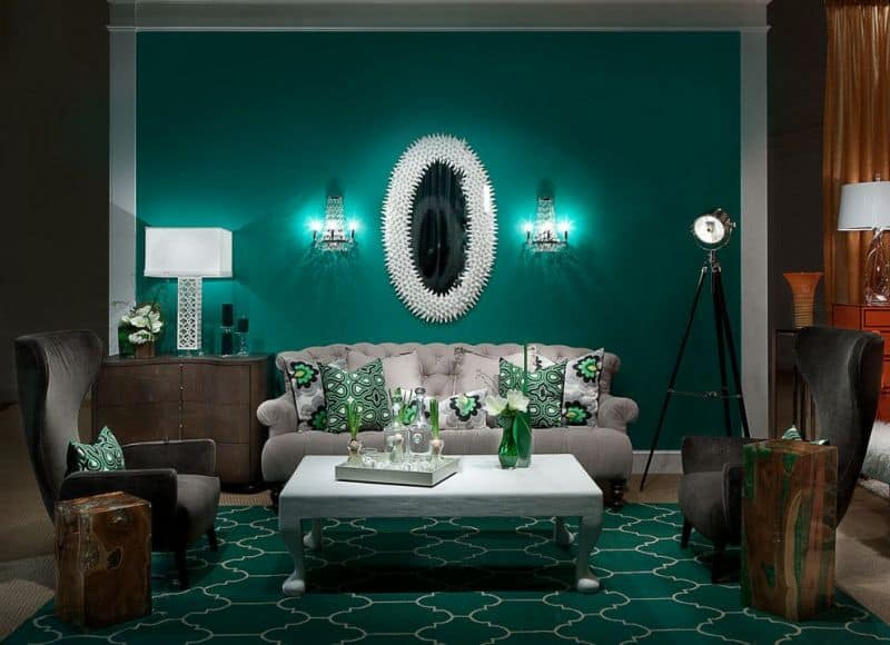 fashionable color in the interior of 2021
